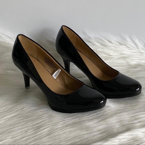 "Black Patent Leather Pumps 3"" Heel Size 6.5"